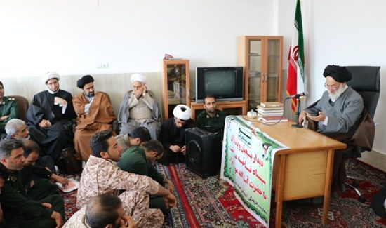 گزارش تصویری/دیداربسیجیان وپاسداران سپاه مرودشت با رییس حوزه علمیه مرودشت